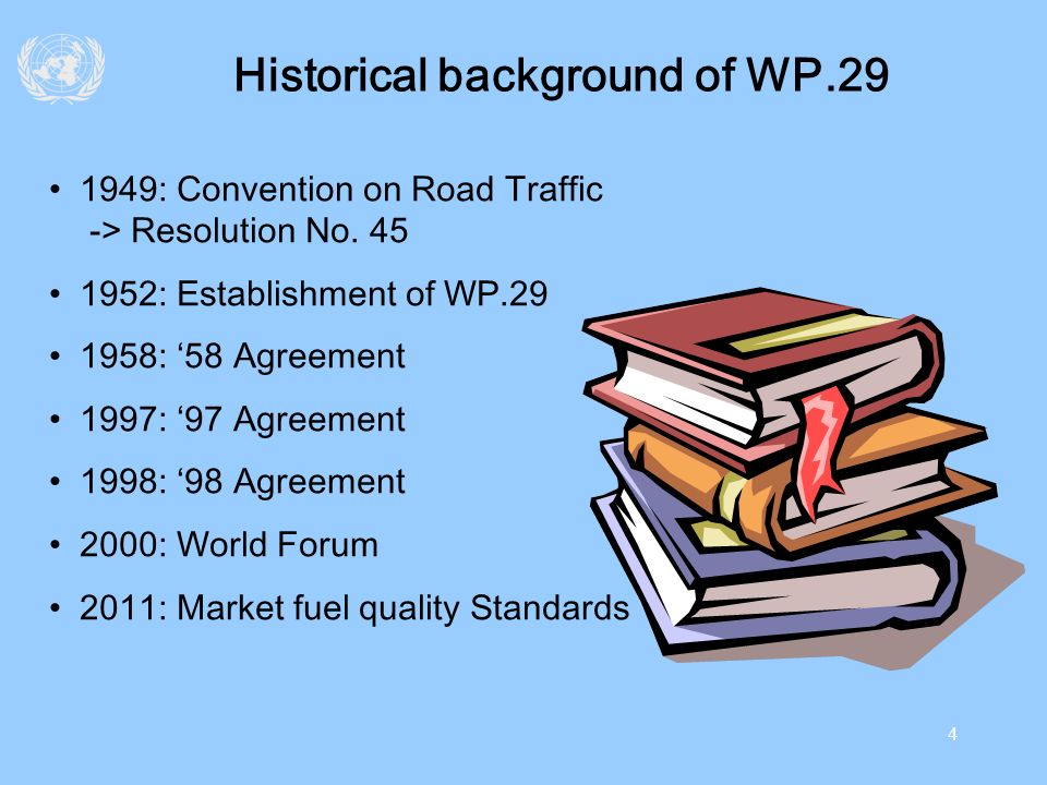 Historical background of WP.29