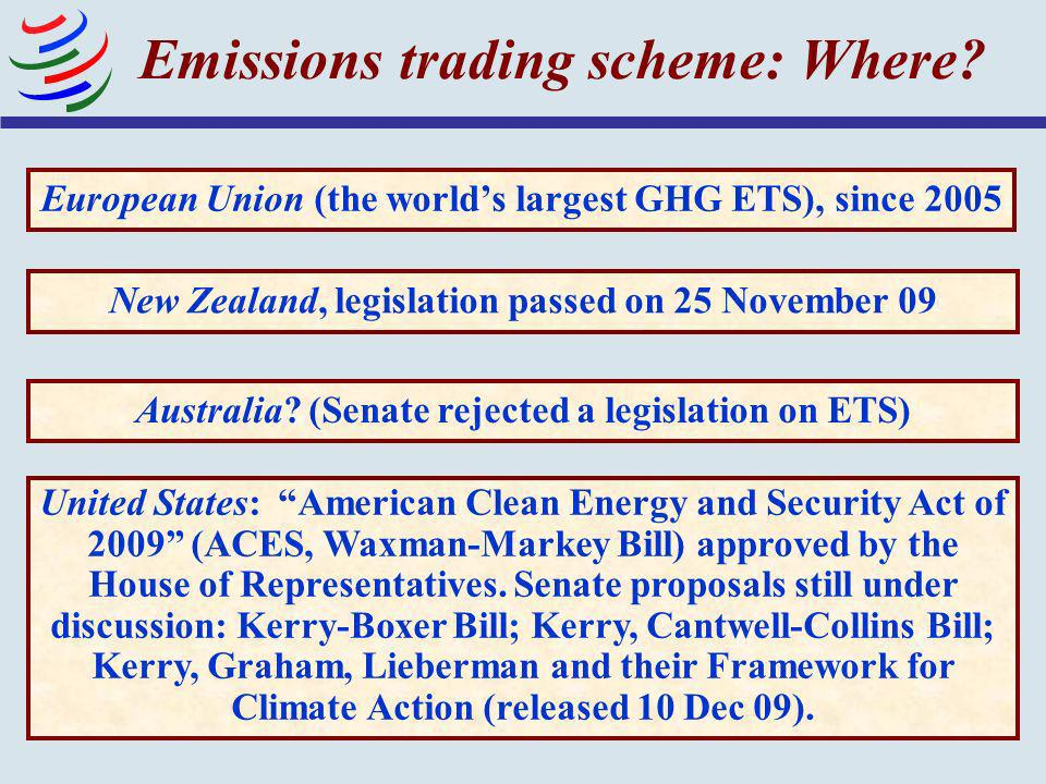 Emissions trading scheme: Where