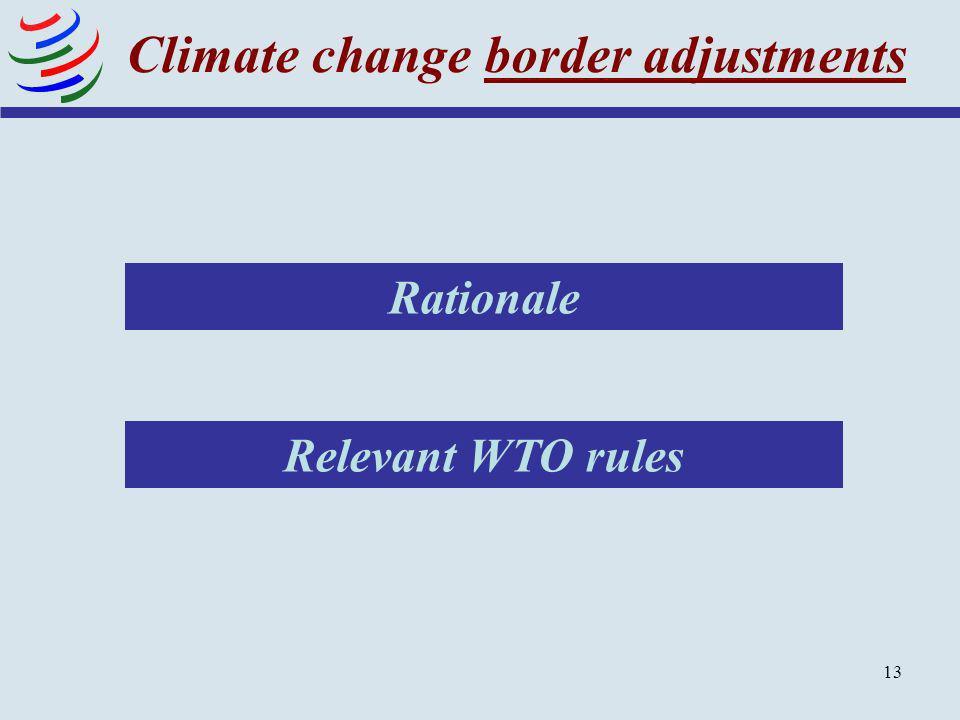 Climate change border adjustments