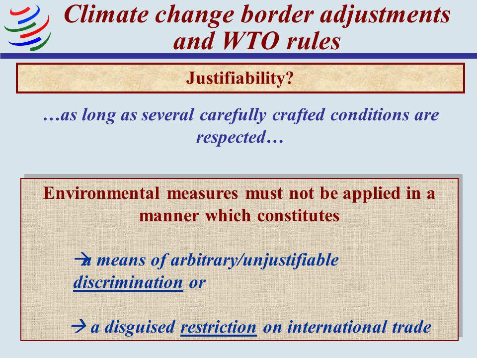 Climate change border adjustments and WTO rules