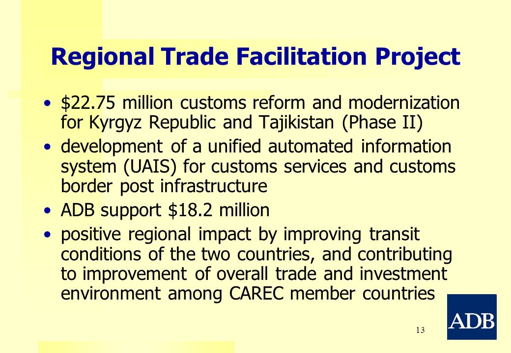 Regional Trade Facilitation Project