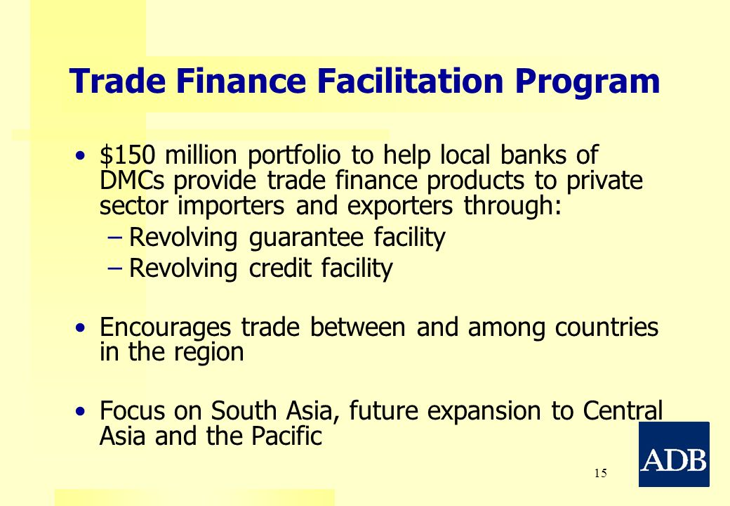 Trade Finance Facilitation Program