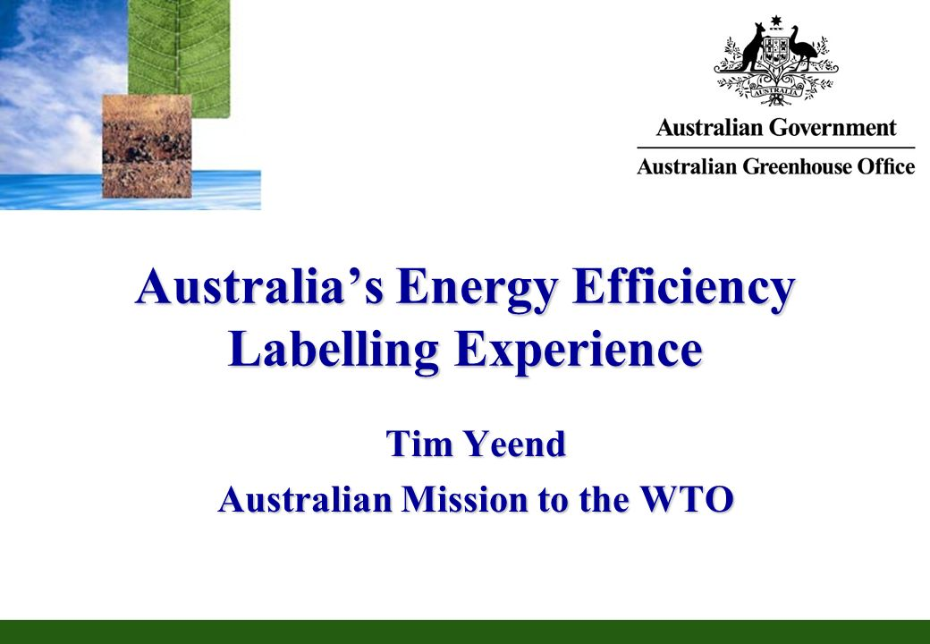 Australia's Energy Efficiency Labelling Experience