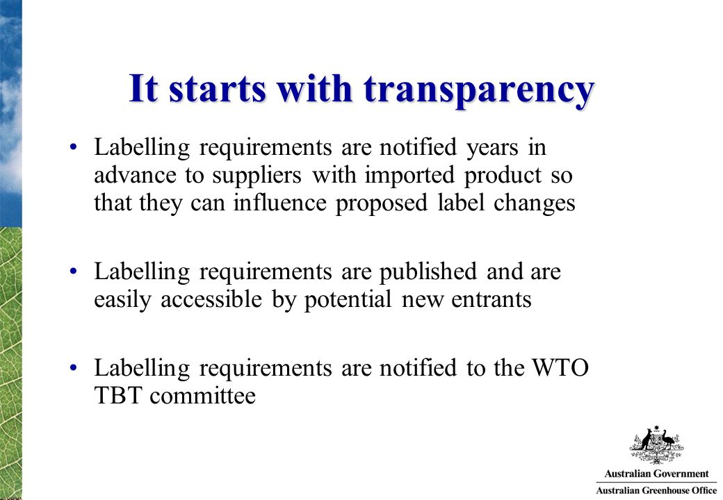 It starts with transparency