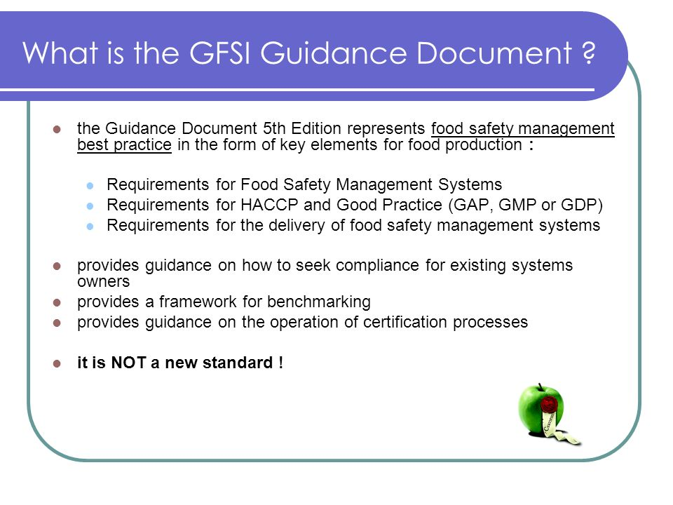 What is the GFSI Guidance Document