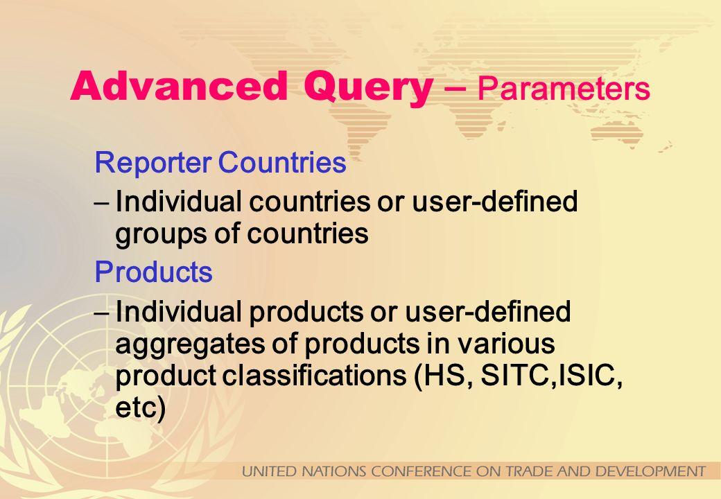Advanced Query – Parameters