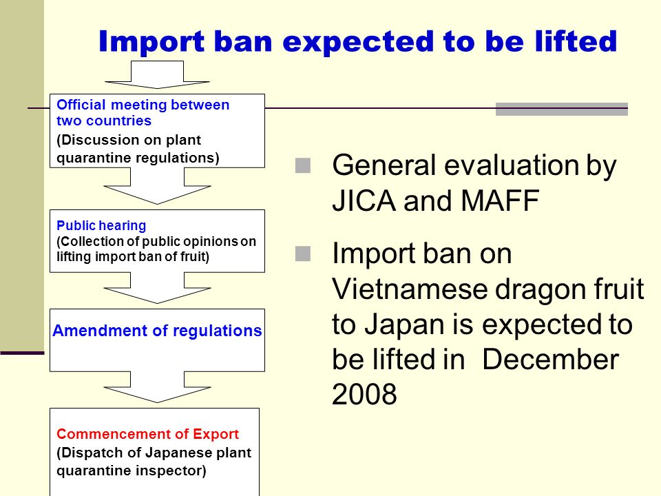 Import ban expected to be lifted