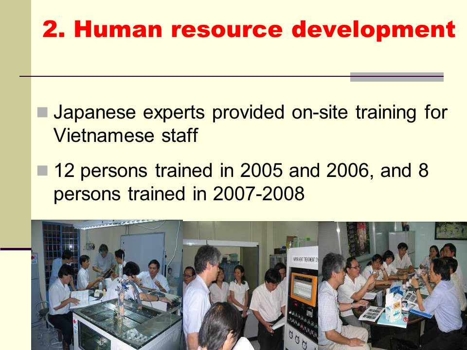 2. Human resource development