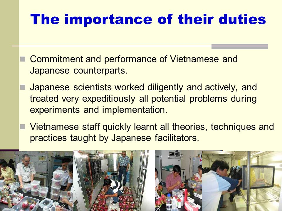 The importance of their duties