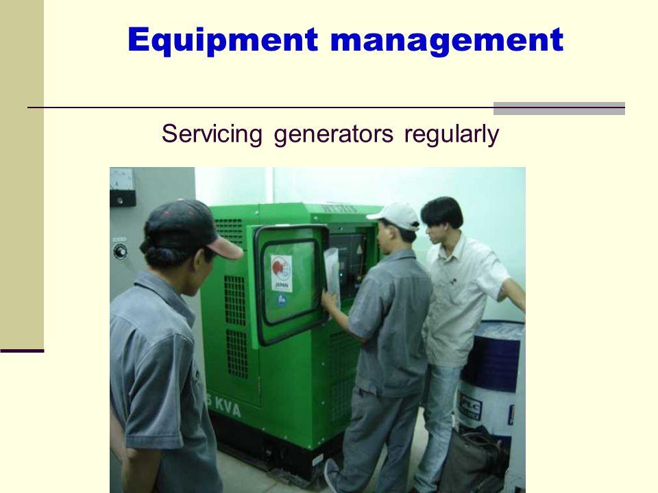 Servicing generators regularly