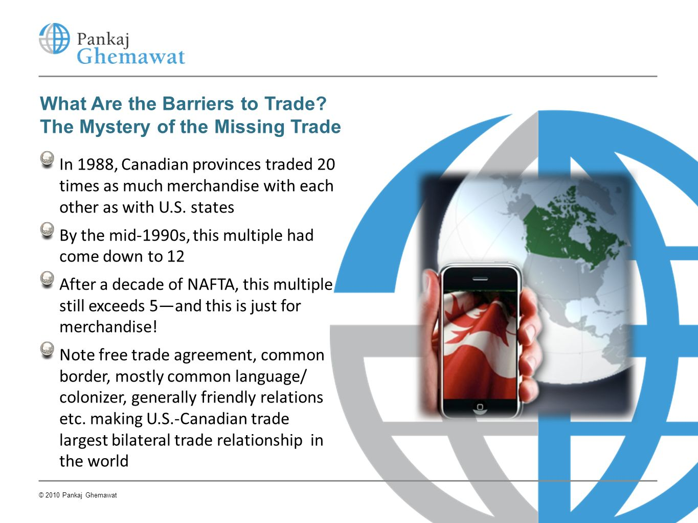 What Are the Barriers to Trade The Mystery of the Missing Trade