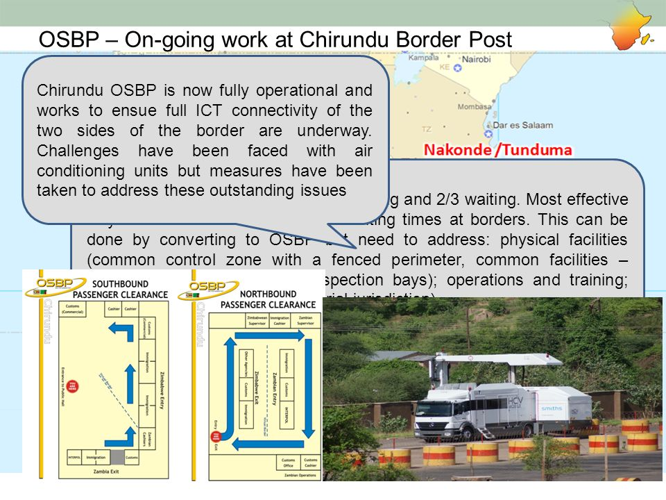 OSBP – On-going work at Chirundu Border Post