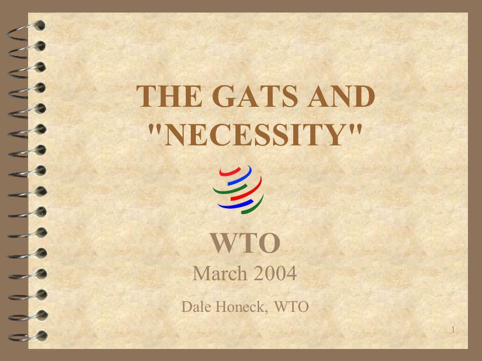 Workshop on Domestic Regulation 29-30 March 2004