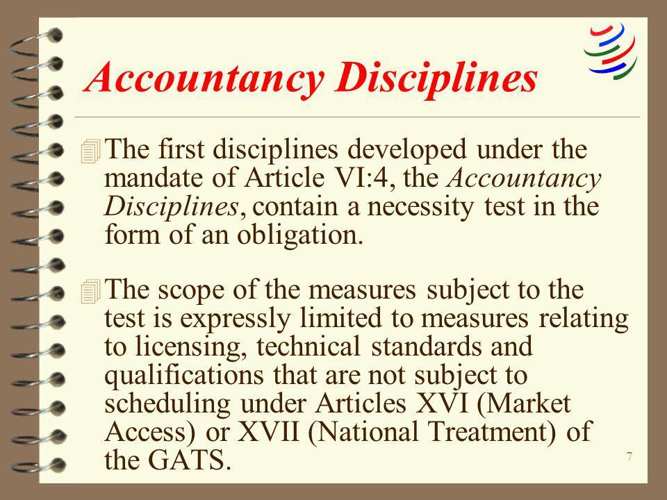 Accountancy Disciplines