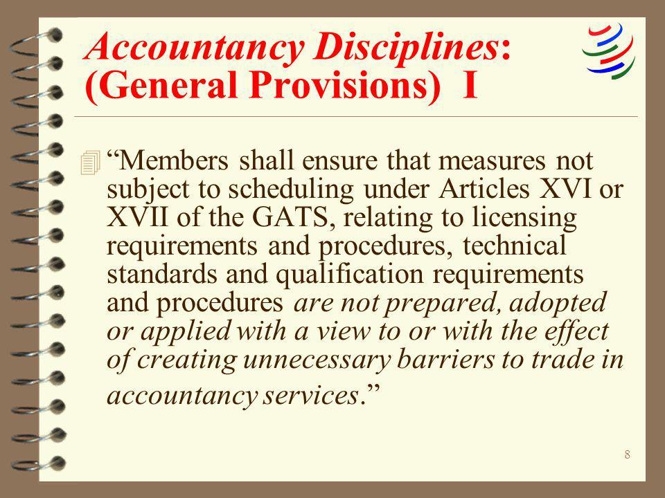 Accountancy Disciplines: (General Provisions) I