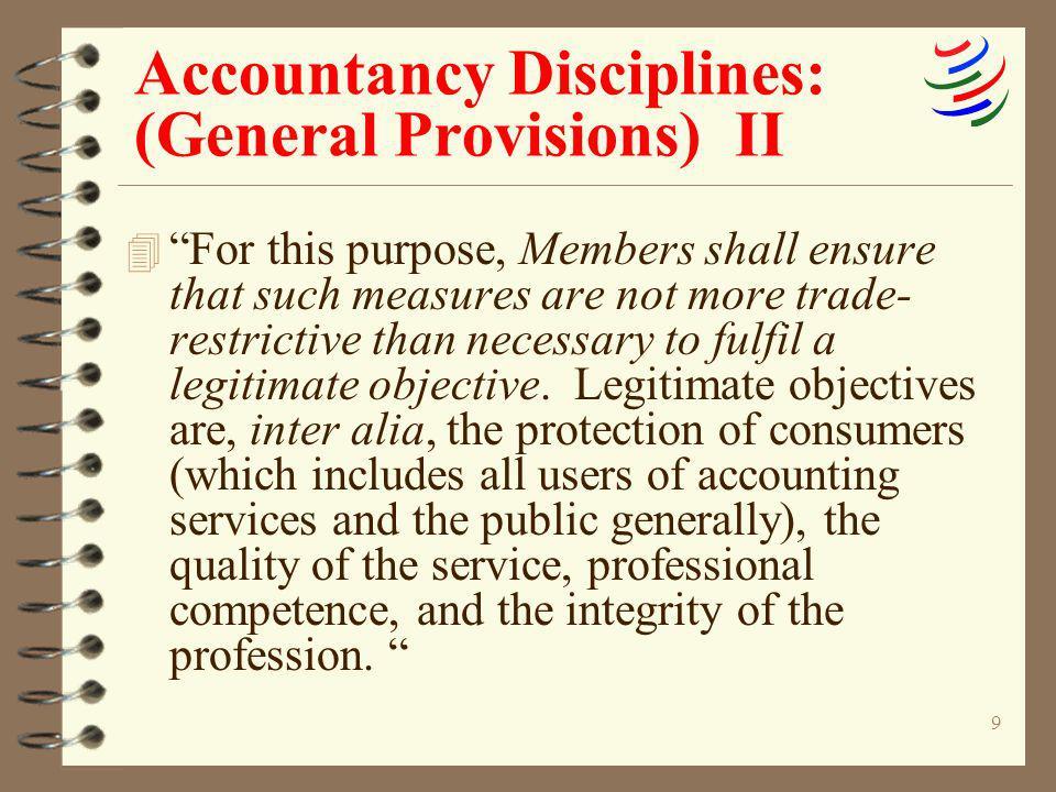 Accountancy Disciplines: (General Provisions) II