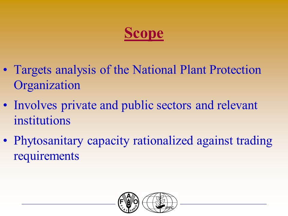 Scope Targets analysis of the National Plant Protection Organization