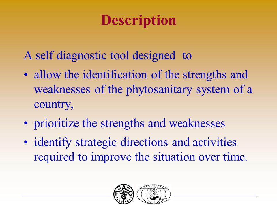 Description A self diagnostic tool designed to