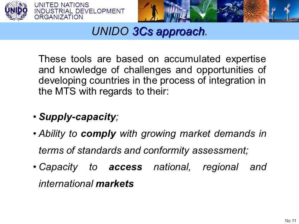 UNIDO 3Cs approach.