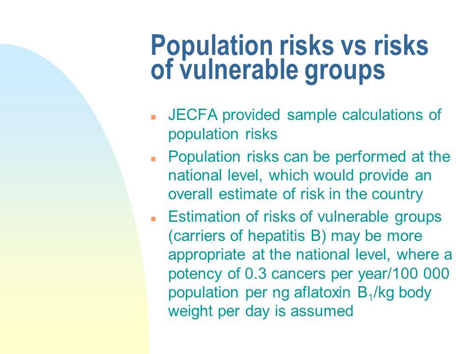 Population risks vs risks of vulnerable groups