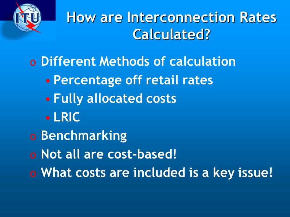 How are Interconnection Rates Calculated