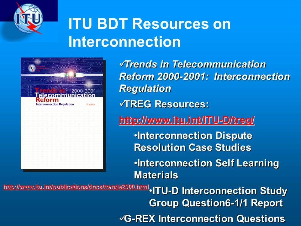 ITU BDT Resources on Interconnection