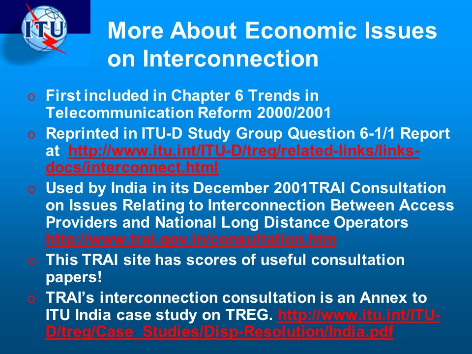 More About Economic Issues on Interconnection