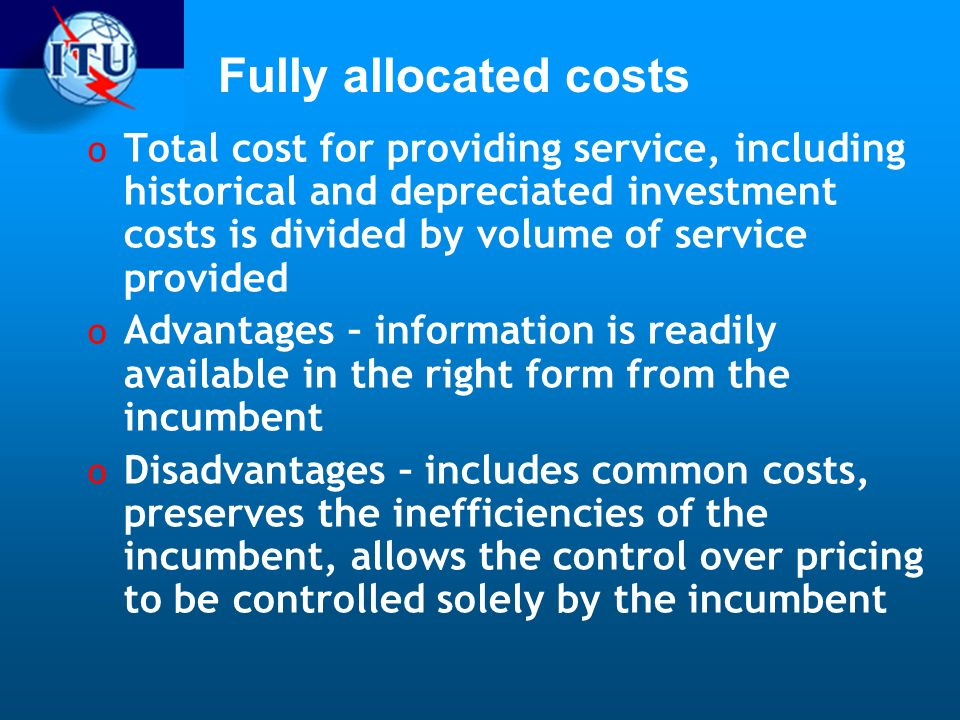 Fully allocated costs