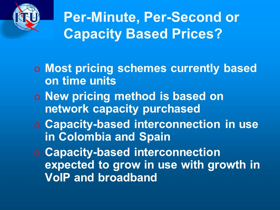 Per-Minute, Per-Second or Capacity Based Prices