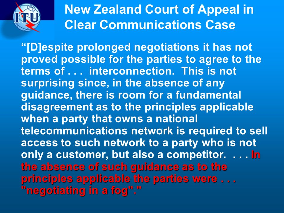New Zealand Court of Appeal in Clear Communications Case