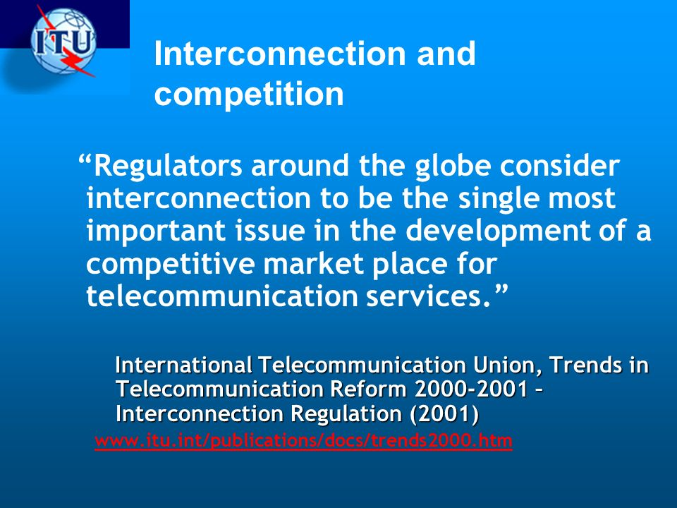 Interconnection and competition