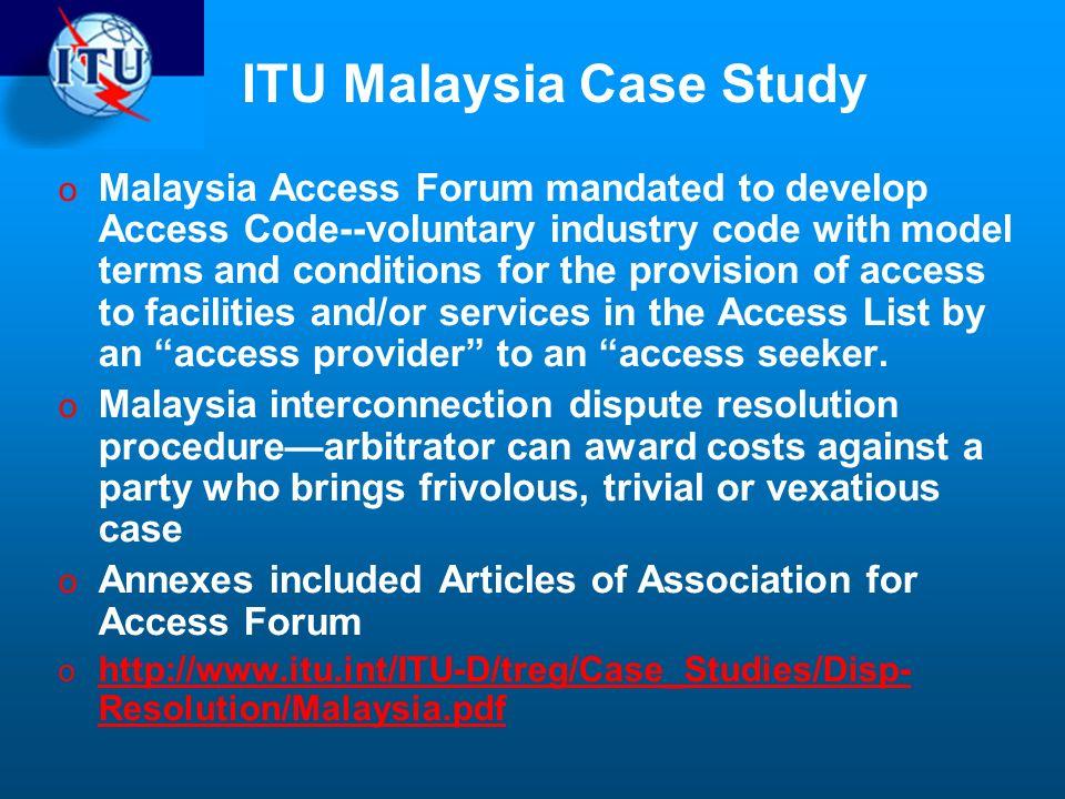 ITU Malaysia Case Study