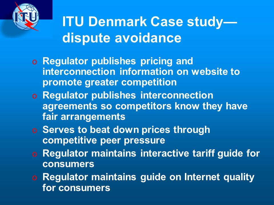 ITU Denmark Case study—dispute avoidance