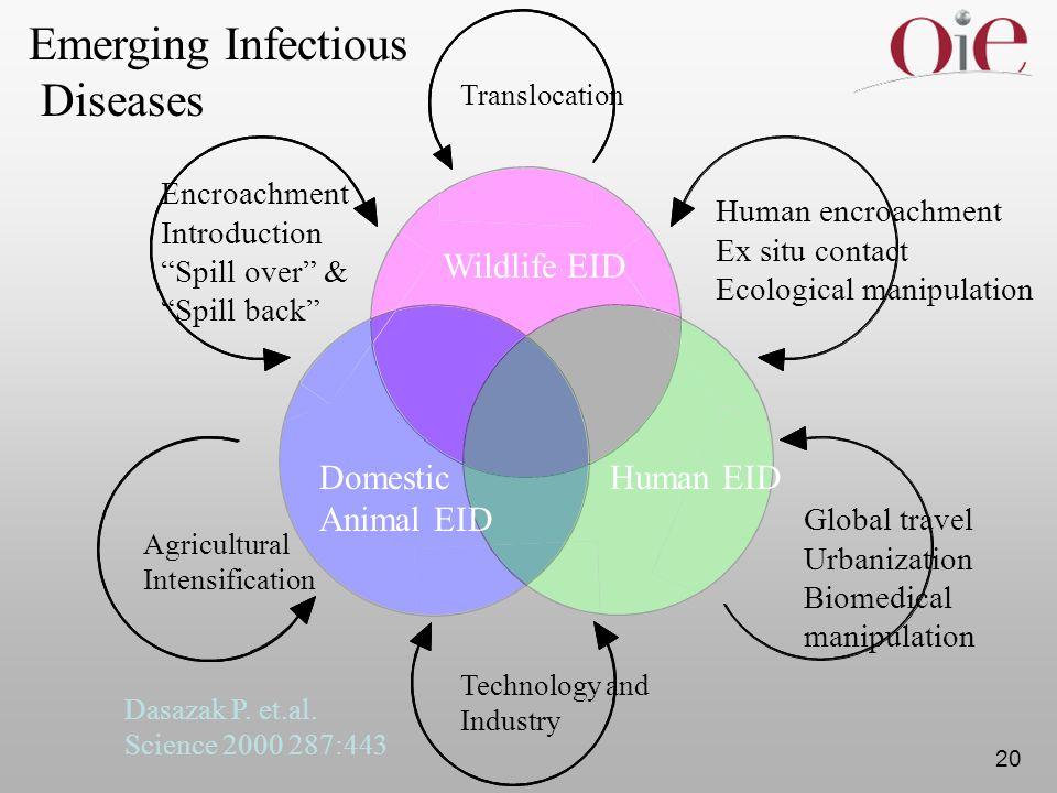 Emerging Infectious Diseases Wildlife EID Domestic Animal EID