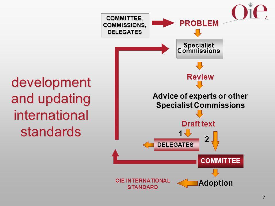development and updating international standards
