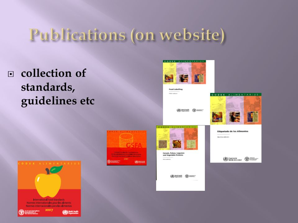 Publications (on website)