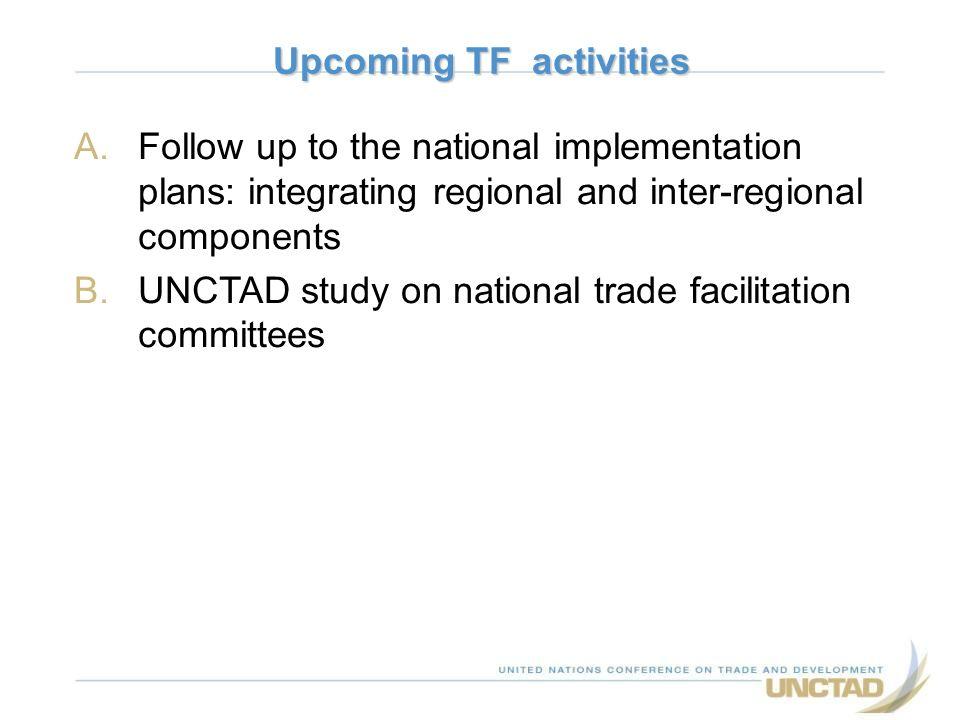 Upcoming TF activities