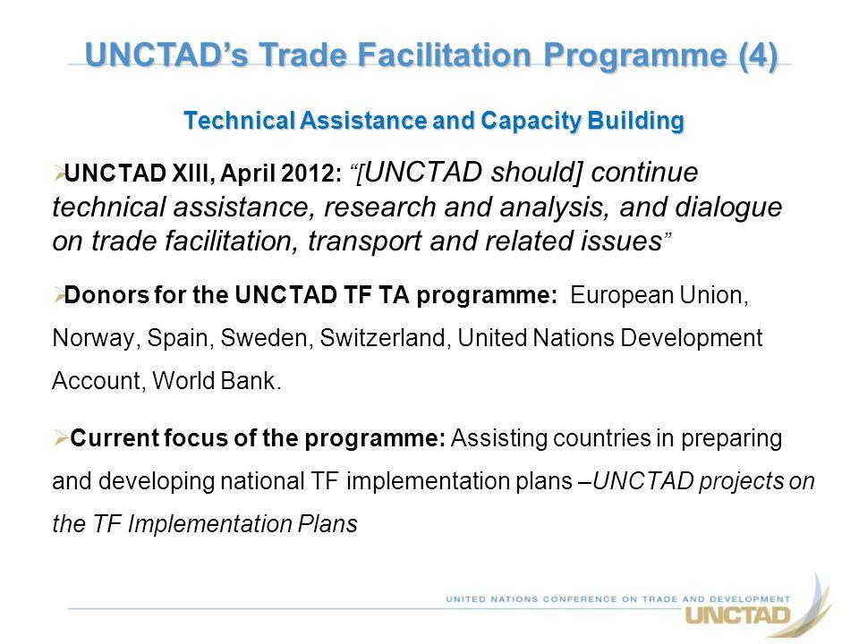UNCTAD's Trade Facilitation Programme (4)