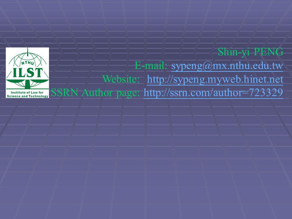 Shin-yi PENG E-mail: sypeng@mx. nthu. edu. tw Website: http://sypeng