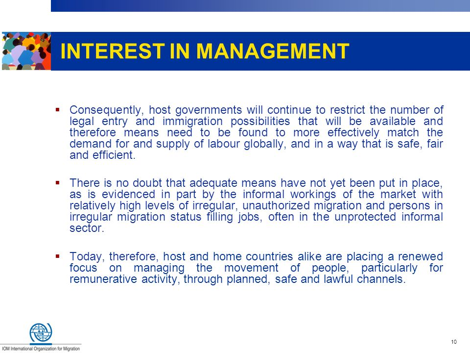 INTEREST IN MANAGEMENT