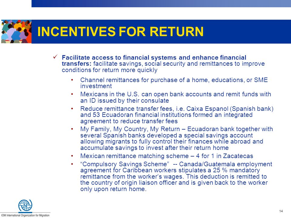 INCENTIVES FOR RETURN