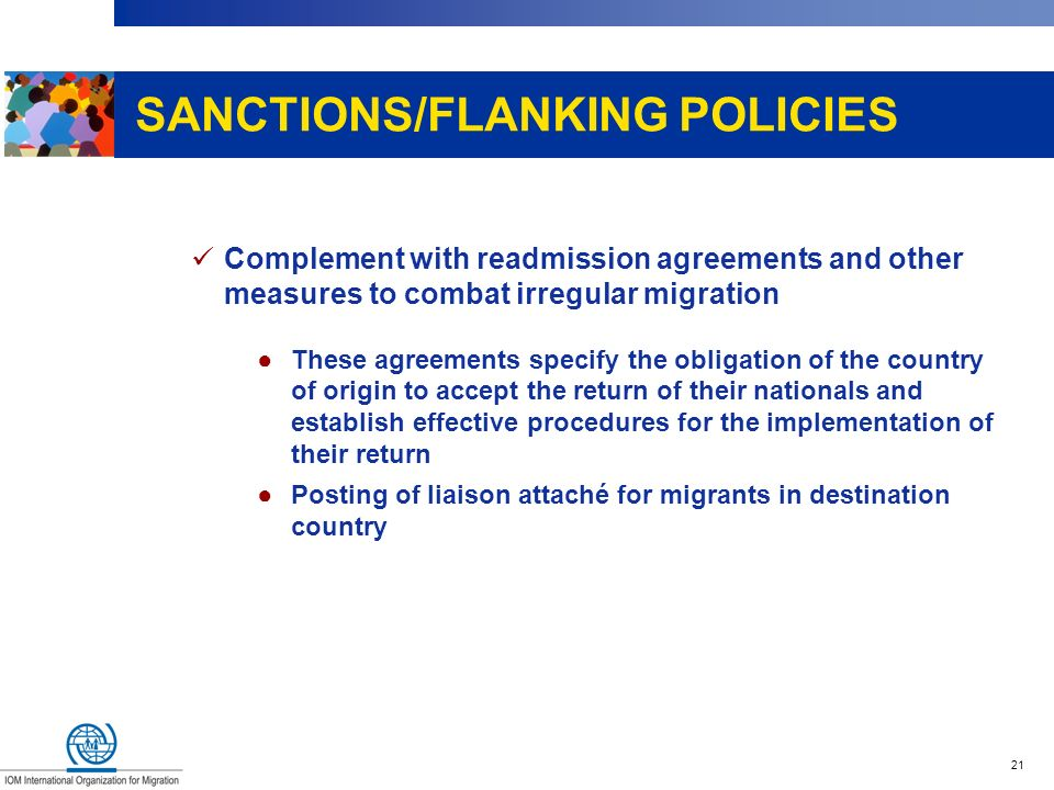 SANCTIONS/FLANKING POLICIES