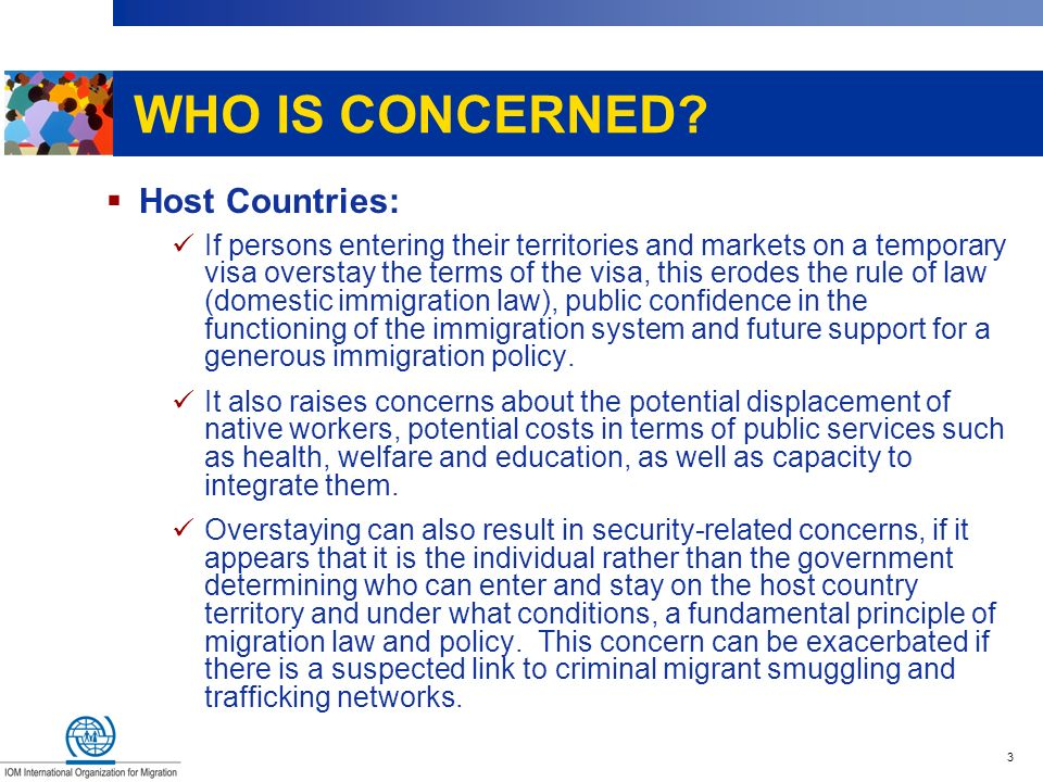 WHO IS CONCERNED Host Countries: