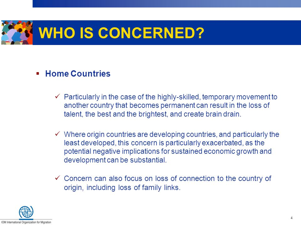 WHO IS CONCERNED Home Countries