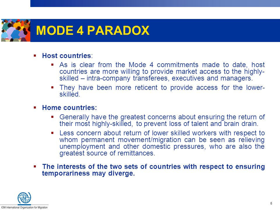 MODE 4 PARADOX Host countries: