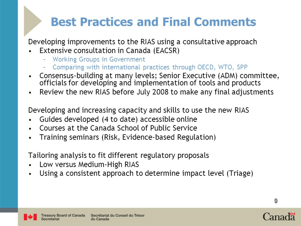 Best Practices and Final Comments