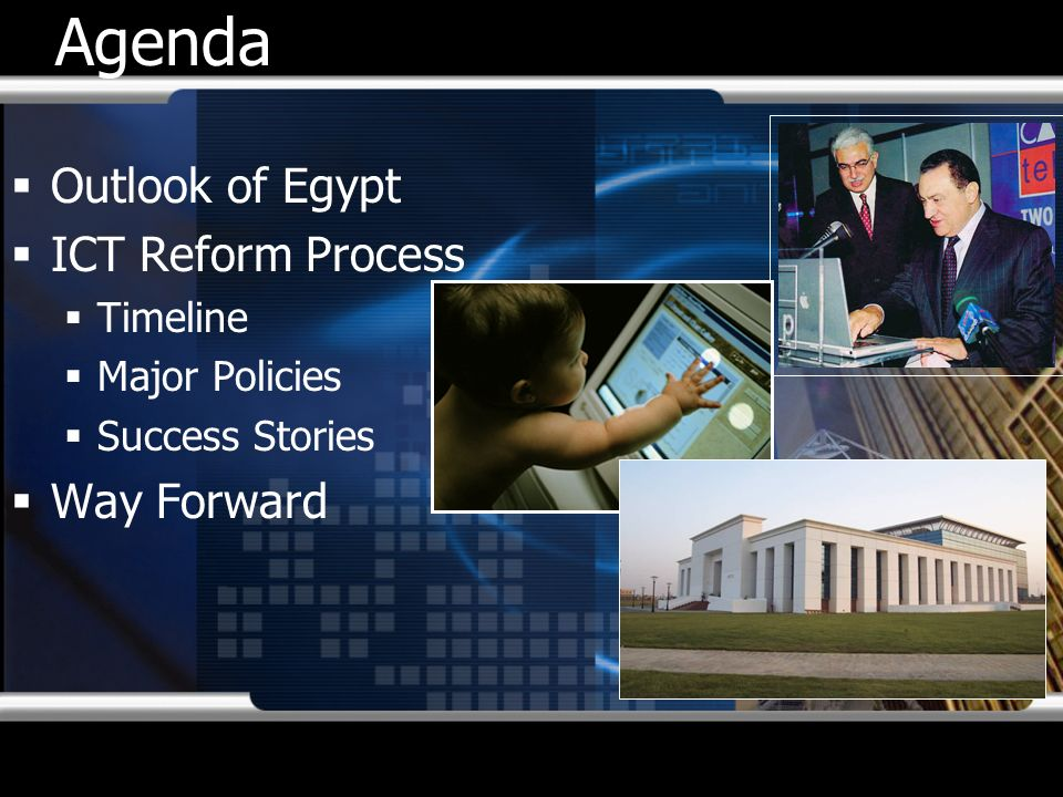 Agenda Outlook of Egypt ICT Reform Process Way Forward Timeline