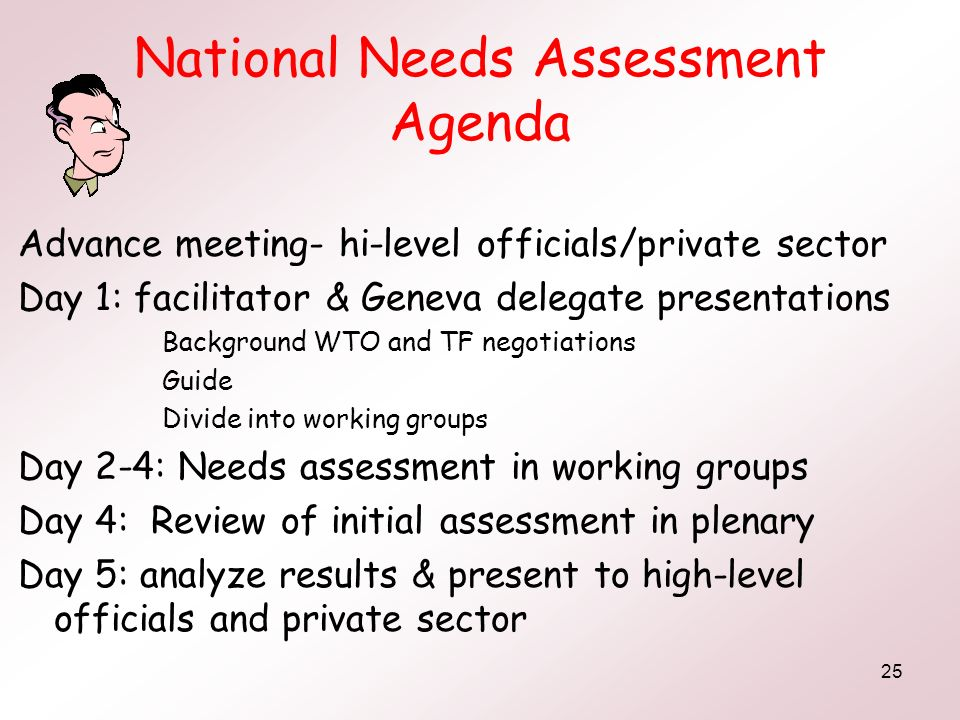 National Needs Assessment Agenda