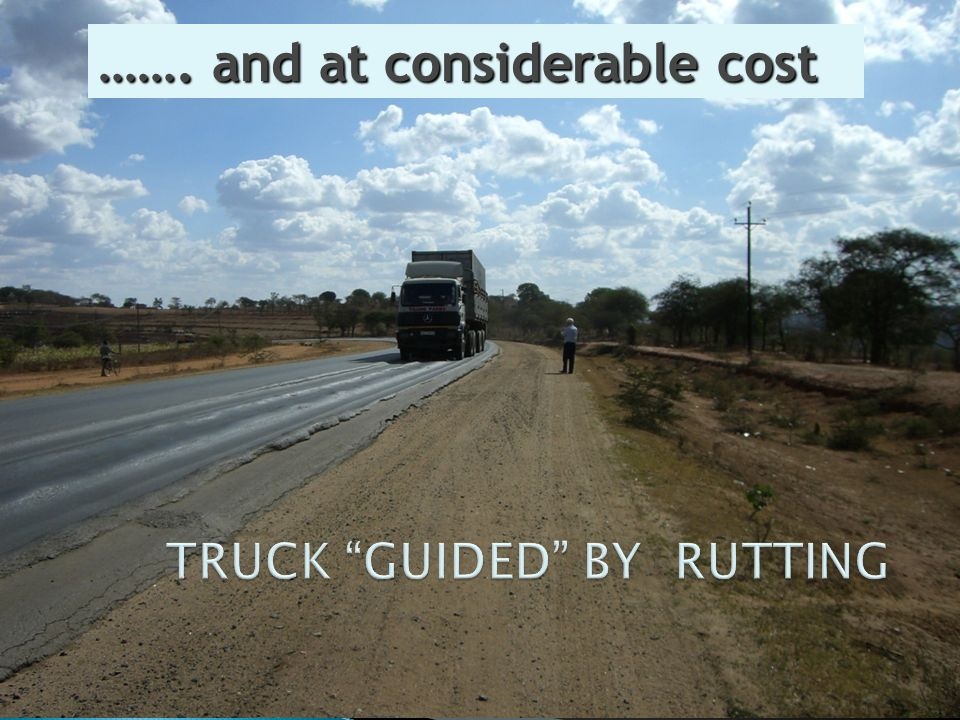 TRUCK GUIDED BY RUTTING