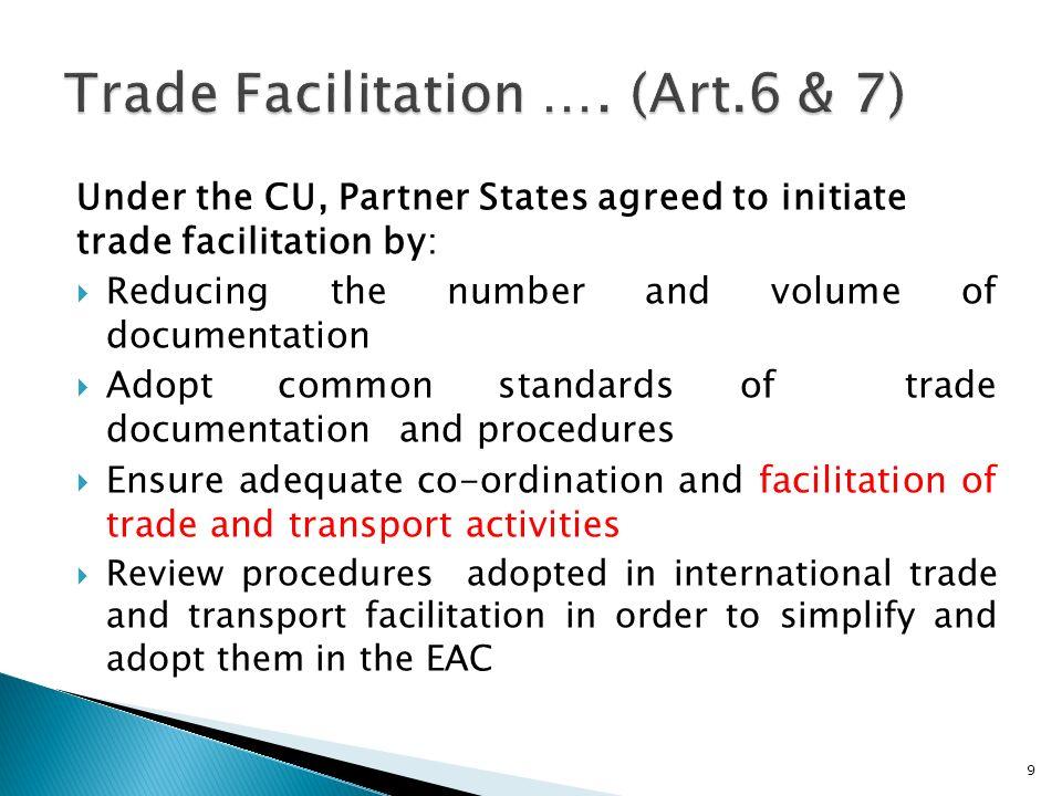 Trade Facilitation …. (Art.6 & 7)